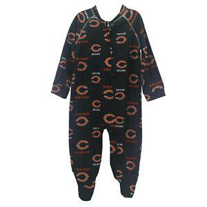 Chicago Bears NFL Apparel Baby Infant Toddler Size Pajama Sleeper Bodysuit New