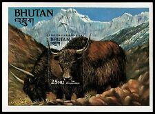 ✔️ BHUTAN 1984  - FAUNA YAK - MI. BLOCK 103 ** MNH OG [BB01]