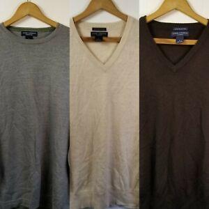 Men's Daniel Cremieux Merino Wool V-Neck Crew Neck Sweater Lot Of 3, Large