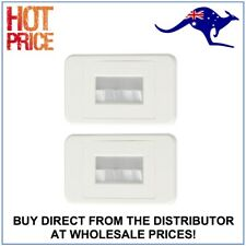 2x Flush Bristle Brush Cable Inwall Management Wall Plate Wallplate White