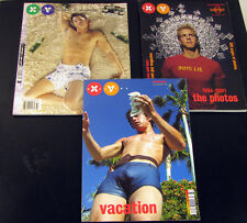 XY Magazine Lot of 3 Rare Gay Interest Young Men Lifestyle Photography 2001/2002