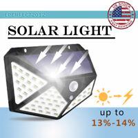 100 LED Solar Light Wireless Motion Sensor Outdoor Yard Pathway Porch Wall Lamp