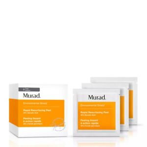 MURAD Rapid Resurfacing Peel 10% Glycolic Acid - 16 towelettes - New