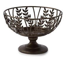 Princess House Gloria Decor Metal Pedestal Bowl Antique Bronze NEW #4615