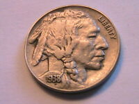 1938-D Buffalo Nickel Ch AU About Unc Lustrous Original Indian Head 5C USA Coin