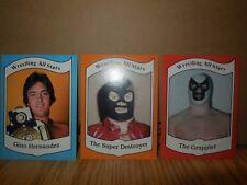 3 1983 wrestling allstar cards the grappler-super destroyer- gino hernandez