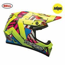 Bell MX-9 MIPS Motorcycle Helmet - Tagger Double Trouble Hi - Viz Yellow