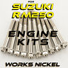 ENGINE Bolt Kit for 1996-2000 Suzuki RM250  Nickel Plated for a Titanium Look!