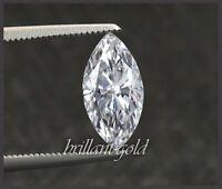 Diamant im Navette Schliff, 0,64 ct, Zertifikat, Top Wesselton / Si1 unbehandelt