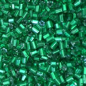 50g 2mm Bugle Glass Seed Beads - Choose Your Colour