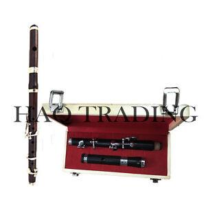 Bb Marching Flute Ebony wood 5 keys slide head High Pitch 3 parts 15 Inches Long