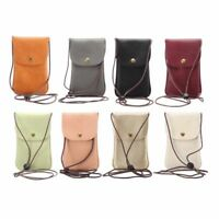 Universal Leather Cell Phone Bag s Shoulder Pocket Wallet Pouch Case Neck Strap