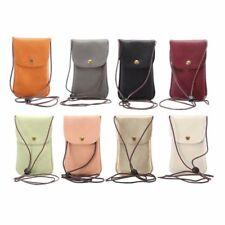 Universal Leather Cell Phone Bag s Shoulder Pocket Wallet Pouch Case Neck Strap