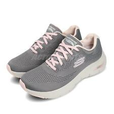 Skechers Arch Fit Grey Pink Women Running Walking Shoes Sneakers 149057-GYPK