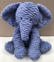 Jellycat Large Fuddlewuddle Elephant Soft Toy Baby Comforter Blue Seated Plush
