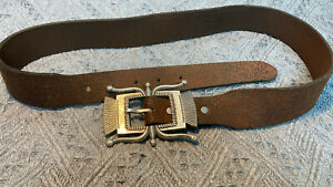 RRL Double RL  Tooled Leather Western Belt