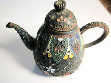 Small Cloisonne Vintage Teapot with Lid
