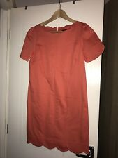 Traffic People Coral Scallop Shift Dress Size 10 BNWT