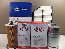 GENUINE KIA SPORTAGE SUV 2.0L CRDI DIESEL FILTER PACK (OIL + AIR + FUEL FILTER)