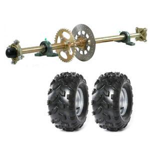 "44"" ATV Go Kart Rear Axle Kit Disc Sprocket & Hub + 8 Wheels Quad go Cart Buggy"