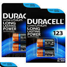 4 x Duracell Ultra Lithium CR123A 3V batteries CR17345 EL123 2 in Pack EXP:2024