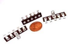 """5-Lug Phenolic Miniature Lug Terminal Strips NOS USA 1-Ground 1/4"""" Centers x3pcs"""