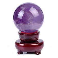 20mm Rare Magic Natural Amethyst Crystal Sphere Ball Healing Stone Dekoration