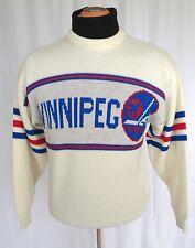 ✰ WINNIPEG JETS 80s 90's RARE Vintage Retro CCM KNIT Pullover SWEATER NHL Hockey