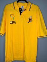 NWT Ultimate Mens XXL Ghana 2008 Africa Soccer Polo Short Sleeve Shirt Yellow