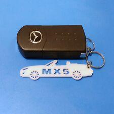 Mazda Miata MX5 Rectangular Wave Red Key Fob Authentic Logo Key Chain Key Ring Keychain Lanyard