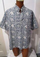 Reyn Spooner Hawaiian Traditions, Pullover, Reverse Pattern, Flag & Goose, L-Xl