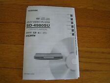 TOSHIBA DVD VIDEO PLAYER SD-4980SU OWNER'S MANUAL 2005