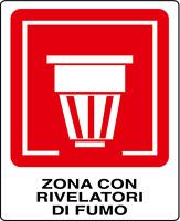 ADESIVO ZONA CON RIVELATORI DI FUMO 200x300 mm