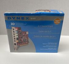 Dynex 5.1 Desktop Internal PCI Sound Card  Model DX-SC51 NEW SEALED!!!