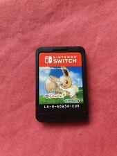 Pokemon: Let's Go, Eevee! Nintendo Switch 2017 CART ONLY