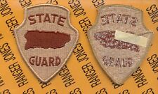 US Army Puerto Rico State / National Guard Desert DCU patch m/e