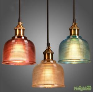 Multicolor glass chandelier Led pendant lamp Ceiling lights restaurant Lighting