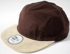 NEW ERA ORIGINALS 5 Panel Camper HAT-NEW-brown/khaki canvas+SUEDE cap-strap back