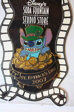 LEPRECHAUN STITCH On POT OF GOLD ST PATRICKS DAY 2007 DSF DISNEY LE 300 PIN HTF