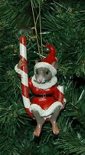 Peppermint Mouse Christmas Ornament