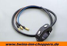 Harley Lenkerarmatur Custom Mini Taster 22-25,4mm Schalter Taster CNC Gehäuse