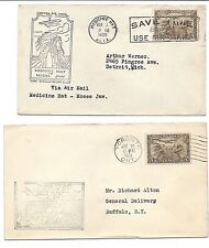 Canada FFC First Flight Cover Lot of 2 - Medicine Hat & Toronto - 1929 & 1930*