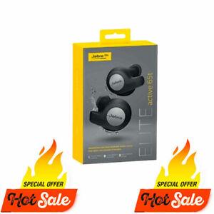 GENUINE Jabra Elite Active 65t Wireless Earbuds Bluetooth Headset Titanium Black