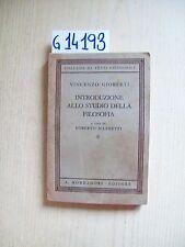 V. GIOBERTI - INTRODUZIONE ALLO STUDIO DELLA FILOSOFIA - MONDADORI - 1941