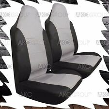 2 x High Quality Sport Car Seat Cover Combo Set Black Gray For Universal Fit