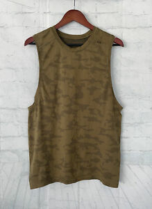 Lululemon Metal Vent Live in Practice Sleeveless Tank Top Shirt - Brown Camo - M