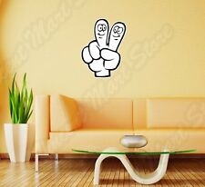 "V Victory Finger Sign Peace Funny Wall Sticker Room Interior Decor 20""X25"""