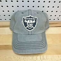 Oakland Raiders Distressed Forty-Seven Brand NFL Hat Buckle Back Cap Gray Nice!