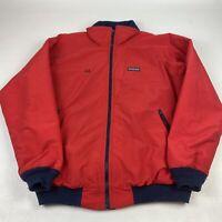 Vintage Lands' End The Squall Red Fleece Bomber Jacket | Size XLT