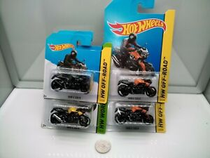 Hot Wheels / BMW K1300R - Black - Yellow - Orange - Model Motorbikes x4